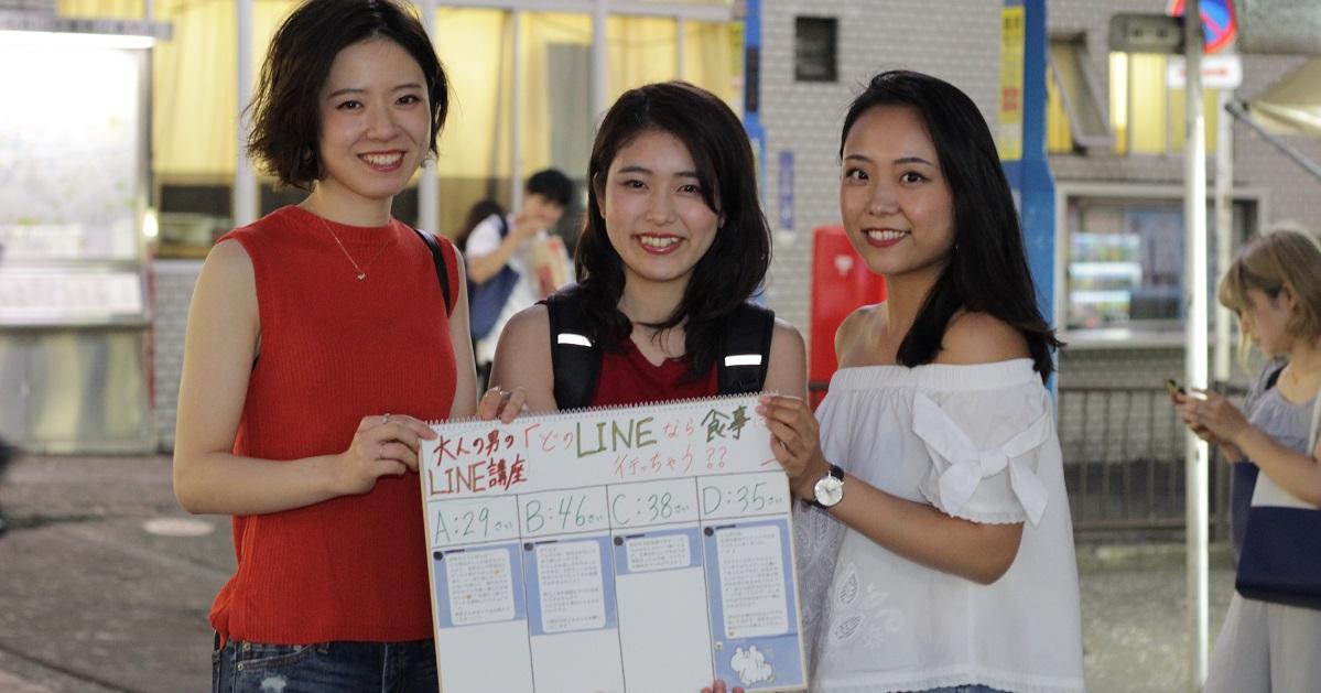 横浜駅で女性104人に聞いた「どのLINEなら食事に行っちゃう?」